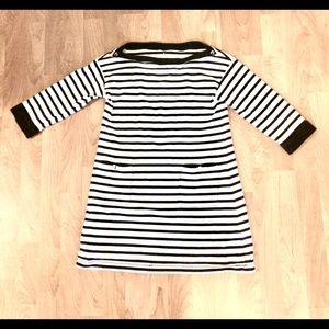 Authentic Kate Spade Navy/White Striped Dress-Sz M